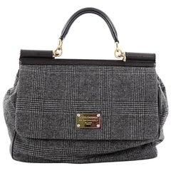 Dolce & Gabbana Miss Sicily Handbag Wool Large