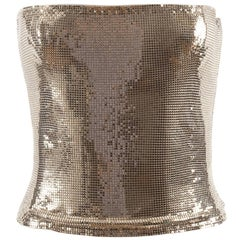 Gianni Versace Autumn-Winter 1998 silver metal mesh corset