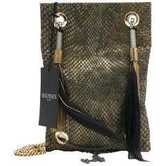 Balmain Ambre Sac Python Bag