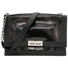Balmain Black Sequin Shoulder Bag