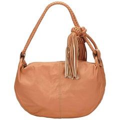 Mulberry Brown Leather Tassel Shoulder Bag