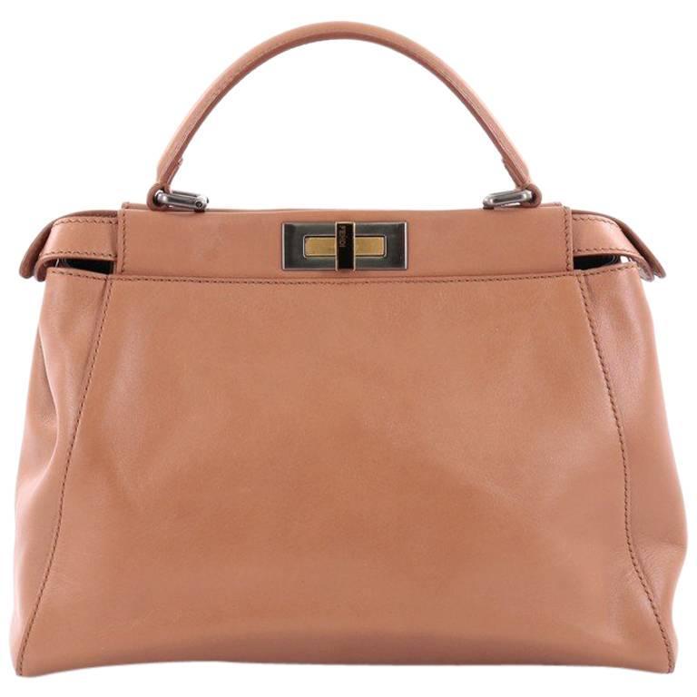 Fendi Peekaboo Handbag Leather Regular eAXM0VxyA