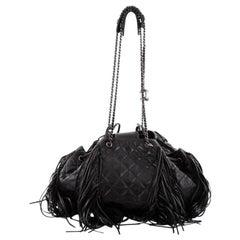 Chanel Paris-Dallas Large Drawstring Fringe Quilted Leather Shoulder Bag