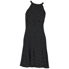 Black & White Michael Kors Collection Polka-Dot Dress
