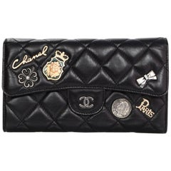 Chanel Limited Edition Quilted Calfskin Lucky Charms Flap Wallet