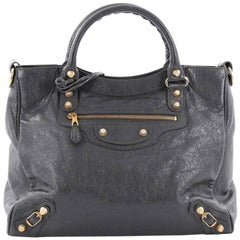 Balenciaga Velo Giant Studs Handbag Leather