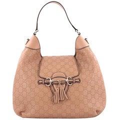 Gucci Emily Hobo Guccissima Leather Medium