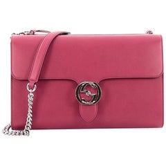 Gucci Interlocking Shoulder Bag Leather Medium