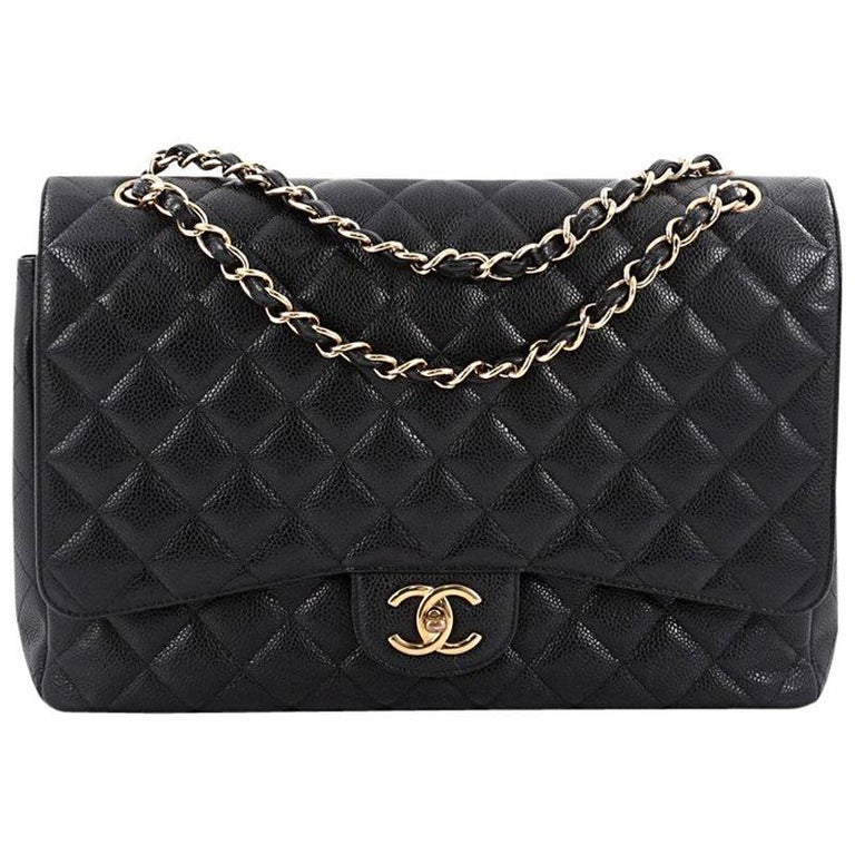 c3640f262be4 Chanel Classic Double Flap Bag Quilted Caviar Maxi at 1stdibs