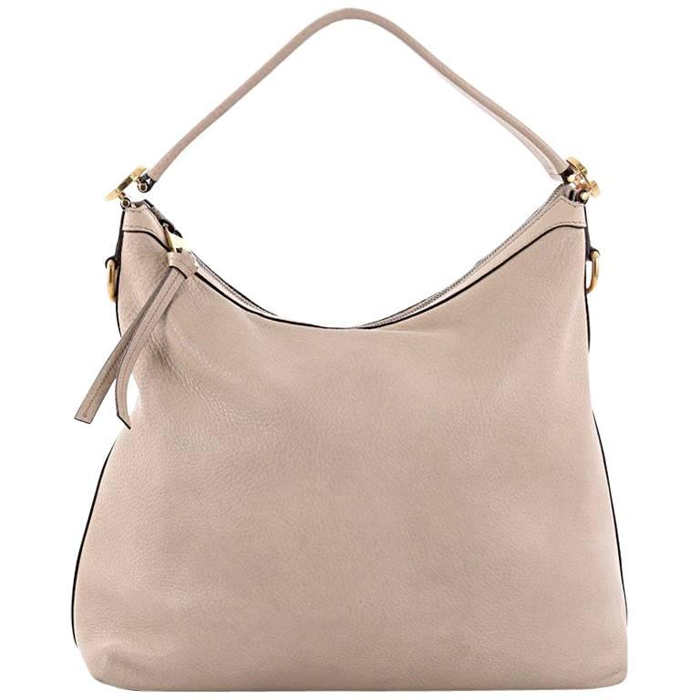6523d9dddf2b83 ... PursesShoulder Bags. Gucci Miss GG Hobo Leather Small For Sale