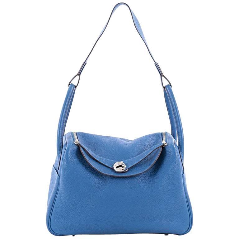 Hermes Lindy Handbag Clemence 30 For Sale