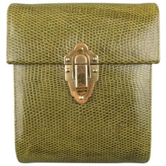 Vintage WILKES BASHFORD Green Lock Box Shoulder Bag