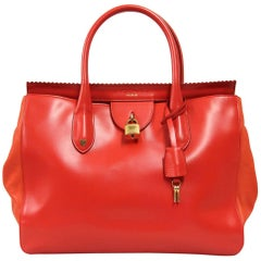 2000s Rochas Red Leather Handbag