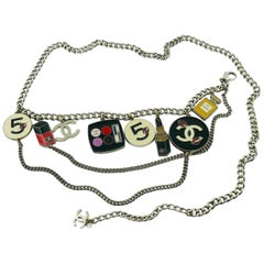 Chanel Rare Fall 2004 Make-Up Charm Runway Belt Necklace