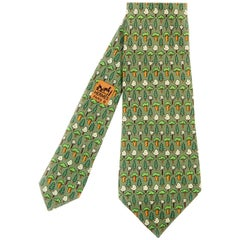 Hermes Vintage Silk Tie 'Evergreen'