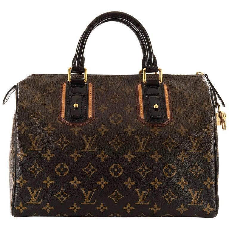 WOW Rare Limited Edition Louis Vuitton 'Sac Mirage' Speedy 30 Logo Handbag GHW 1
