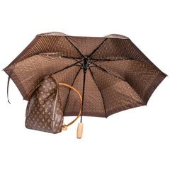 LOUIS VUITTON Backpack 'Sybilla' in Monogram Canvas with its Umbrella