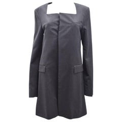 J.W. Anderson Grey Square Neck Minimal Tailored Coat