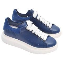 Alexander McQueen Navy Blue Chunky Sole Sneakers UNUSED