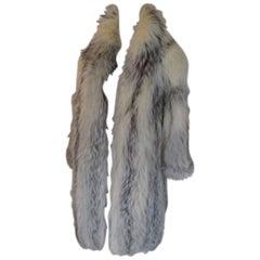 extravagant fox fur coat