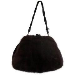 Mink Fur Muff Handbag