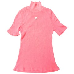 Courreges Sweater - Short Sleeve - Pink - 1970's - Mint Condition