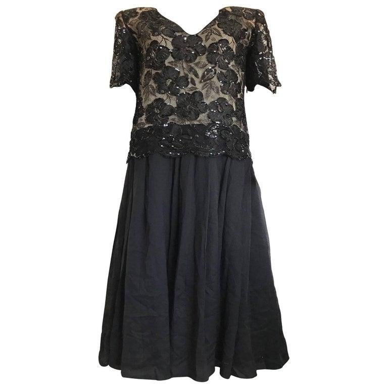Christian Dior black outfit, circa 1980.