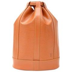 Louis Vuitton Randonnee GM Cipango Gold Epi Leather Shoulder Bag