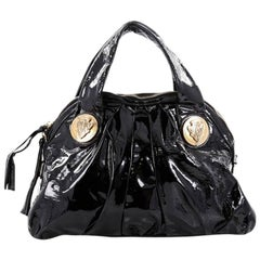 Gucci Hysteria Top Handle Bag Patent Leather Small
