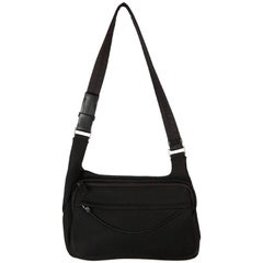 PRADA Black Neoprene Fabric  SHOULDER BAG
