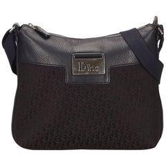 Dior Black Diorissimo Jacquard Shoulder Bag