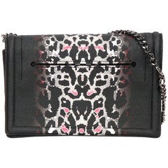 MCQ ALEXANDER McQUEEN Black Leopard Print SIMPLE FOLD Shoulder Bag
