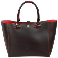 LOEWE Brown Leather LEO TOTE Bag