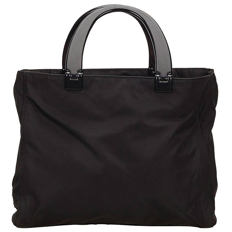 Prada Black Nylon Handbag 1