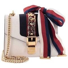 Gucci Sylvie Chain Shoulder Bag Leather Mini