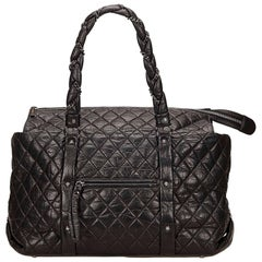 Chanel Black Matelasse Shoulder Bag