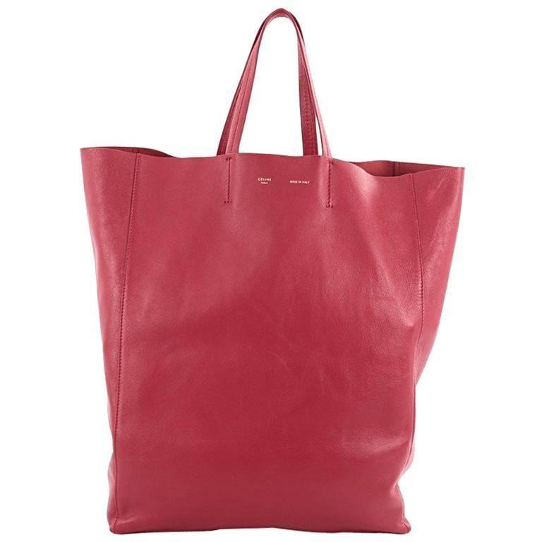 Celine Vertical Cabas Tote Leather Large For Sale