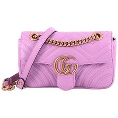 Gucci Marmont Flap Bag Matelasse Leather Mini