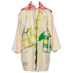 """JEAN CHARLES DE CASTELBAJAC 1990's Ko and Co """"Les Trois Amis """" Coat"""