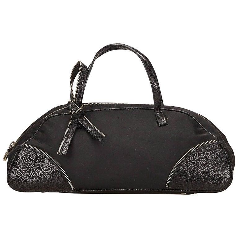 Dior Black Nylon Handbag For Sale