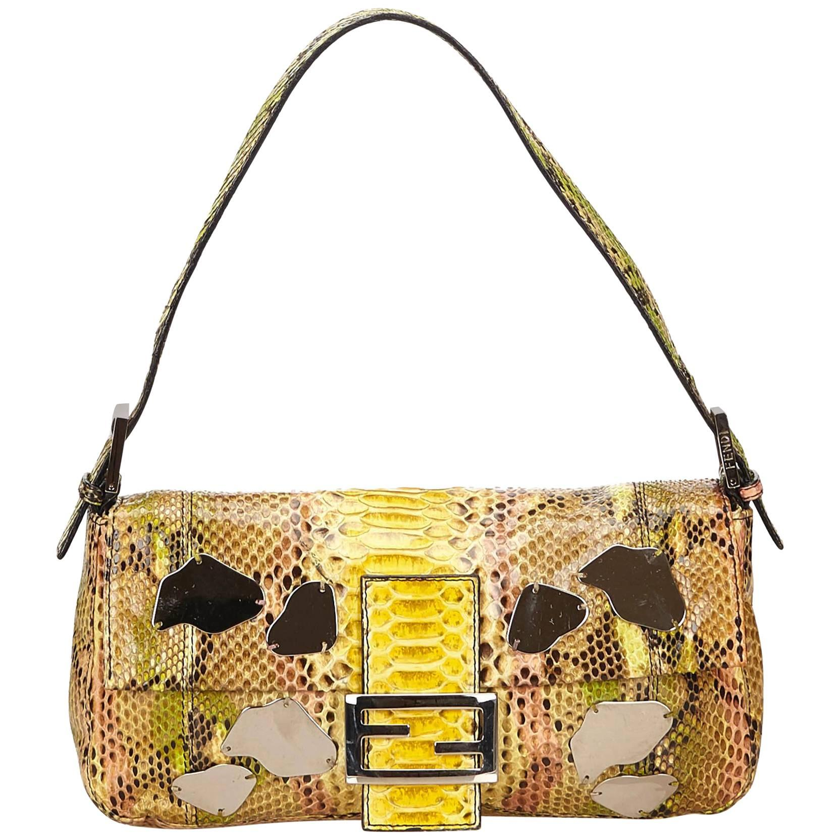 Fendi Ox Animal Print Fur Baguette RmjAJilst9