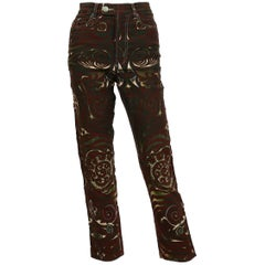 Jean Paul Gaultier Vintage Rare Aboriginal Maori Tattoo Pants Trousers