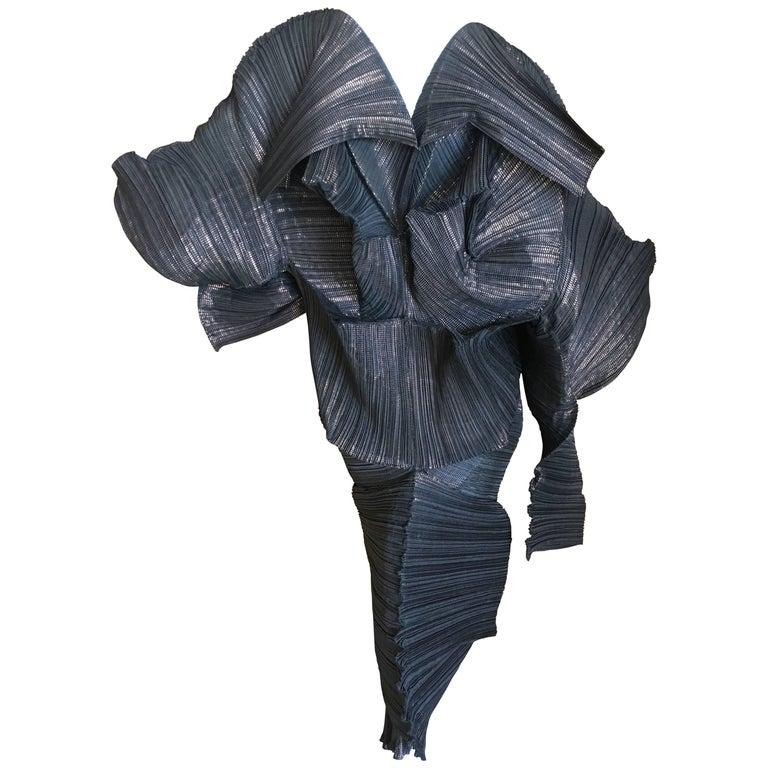 Issey Miyake Important Sculptural Black Vintage Dress For Sale