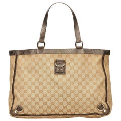 Gucci Brown GG Abbey-D Ring Tote Bag