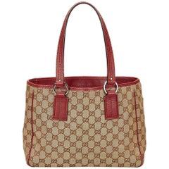 Gucci Brown Guccissima Jacquard Tote Bag