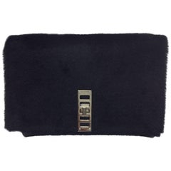 Proenza Shouler Fur and Leather Clutch