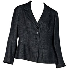 Black Chanel Wool-Blend Jacket