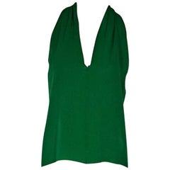 Green Gucci Silk Tank Top