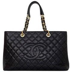 Chanel Black Caviar Leather XL GST Grand Shopping Tote Bag GHW