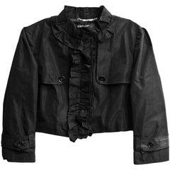 Dolce & Gabbana Black Cropped Jacket sz IT38